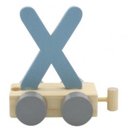 Treinletter X blauw