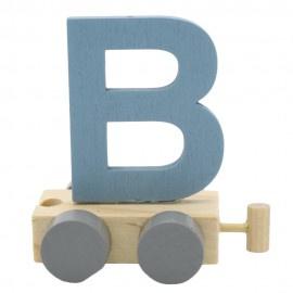 Treinletter B blauw