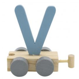Treinletter V blauw