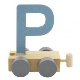 Treinletter P blauw
