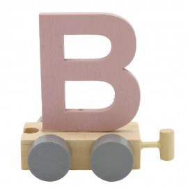 Treinletter B roze