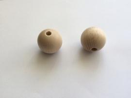 Blank houten kraal 35 mm.