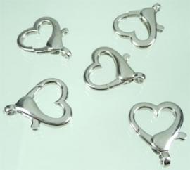 Metalen sleutelhanger hartvorming