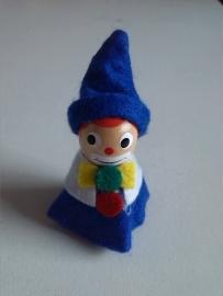 Gelukspop clown blauw