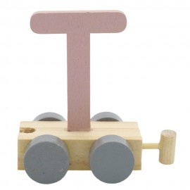 Treinletter T roze