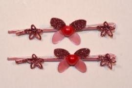 Haarschuifjes vlinder roze (11)