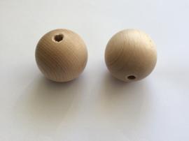 Blank houten kraal 50 mm.