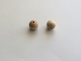 Blank houten kraal 25 mm.