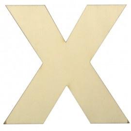 Houten plakletter X
