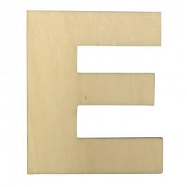Houten plakletter E