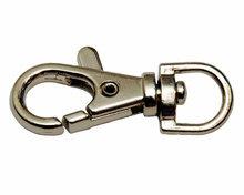 Metalen sleutelhanger ring zilverkleur