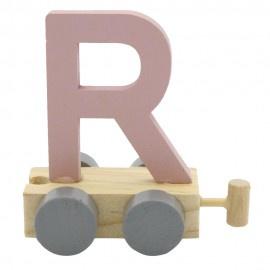 Treinletter R roze