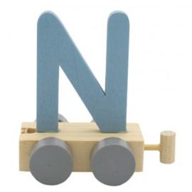 Treinletter N blauw