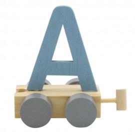 Treinletter A blauw