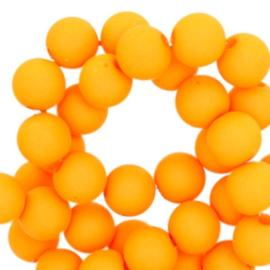 8 mm kraal van acryl sunny fluor orange