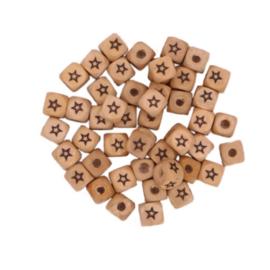 Houten letterkraal ster