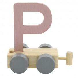 Treinletter P roze