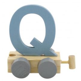 Treinletter Q blauw