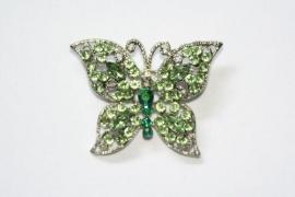 Broche vlinder groen
