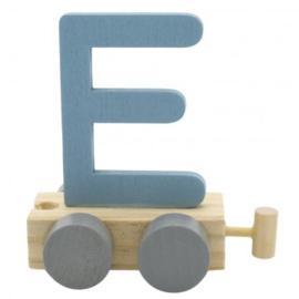 Treinletter E blauw
