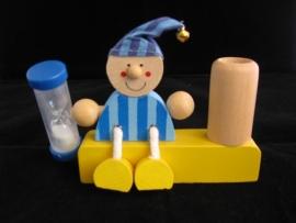Tandenborstelhouder jongen met slaapmuts