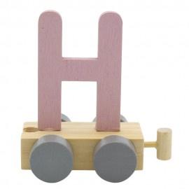 Treinletter H roze