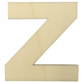 Houten plakletter Z