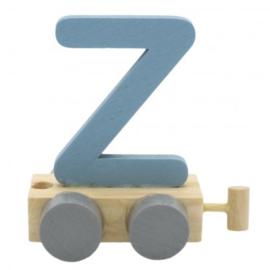Treinletter Z blauw