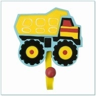 Kapstokhaak truck geel
