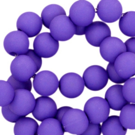 8 mm kraal van acryl indigo purple
