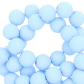 8 mm kraal van acryl arctic sky blue