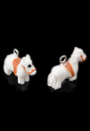 Kunststof hanger/bedel paard wit