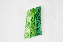 Haarschuifjes groen stip