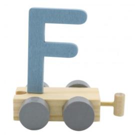 Treinletter F blauw