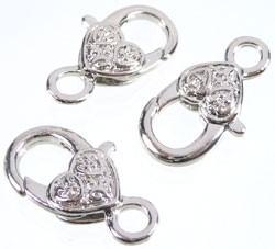 Metalen sleutelhanger/sluiting hart