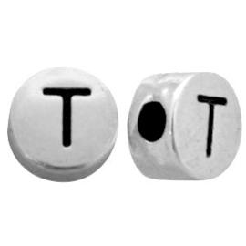 Metal look letterkraal T