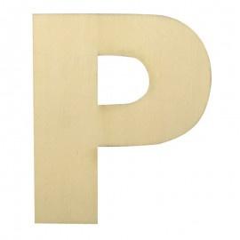 Houten plakletter P