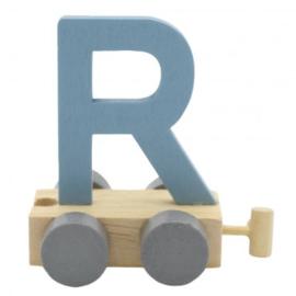 Treinletter R blauw