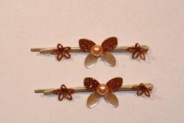 Haarschuifjes vlinder brons (4)