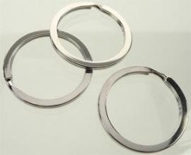 Metalen sleutelhanger ring plat