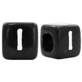 Acryl letterkraal zwart I  (vierkant)