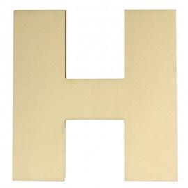 Houten plakletter H