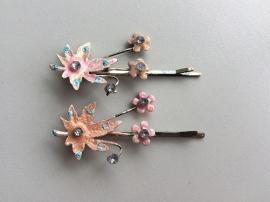 Haarschuifjes kastanjeblad roze (14)