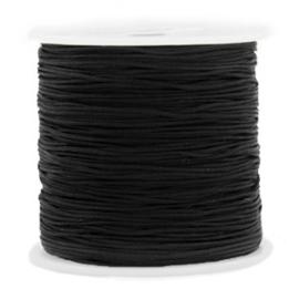 Macramé draad 0.8 mm. zwart