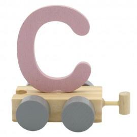 Treinletter C roze