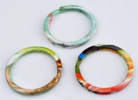 Metalen sleutelhanger ring multicolor