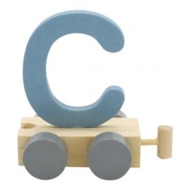 Treinletter C blauw