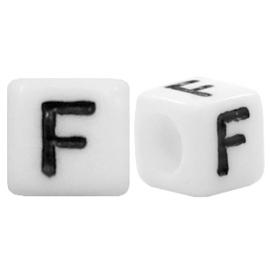 Acryl letterkraal wit F (vierkant)