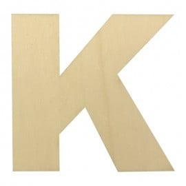 Houten plakletter K