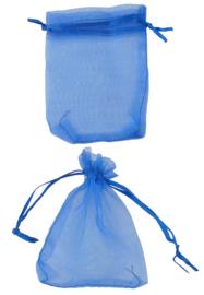 Stoffen cadeautasjes organza donkerblauw